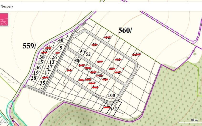 Bývajte v lone prírody: Necpaly, 700 m2 pozemok, projekt domu